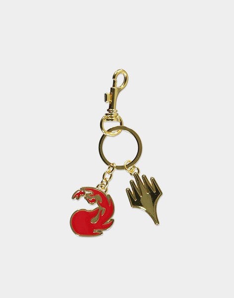 Mtg Red Mana Metal Keyring