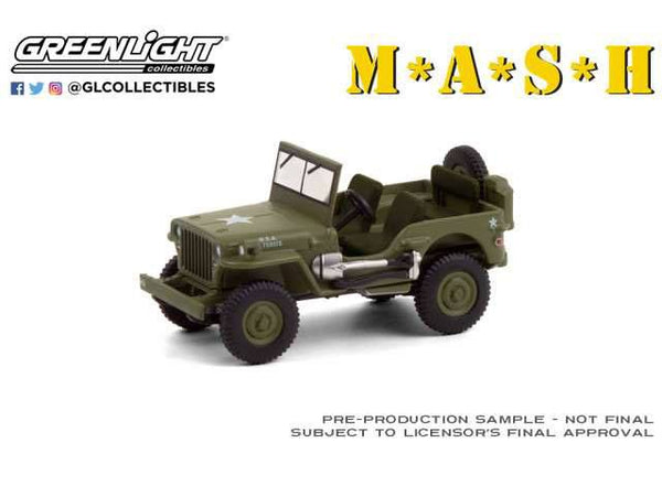 M*A*S*H Diecast Model 1/64 1942 Willys MB Jeep Vehicle