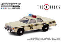 X-Files Diecast Model 1/64 1983 Ford LTD Crown Victoria Lardis MD Police Vehicle