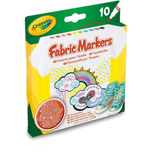 PENNARELLI CRAYOLA TESSUTO FABRIC MARKERS 10PZ