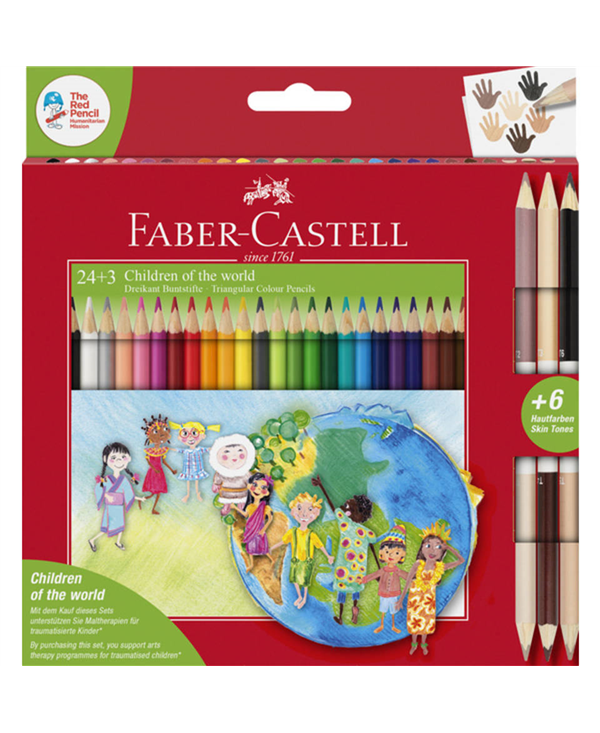 PASTELLI FABER CASTELL CHILDREN OF THE WORLD PZ 24+3