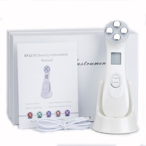 Led Facial Wand | Light Therapy Face | LED Light Therapy | 5-In-1 Skin Rejuvenation Handset