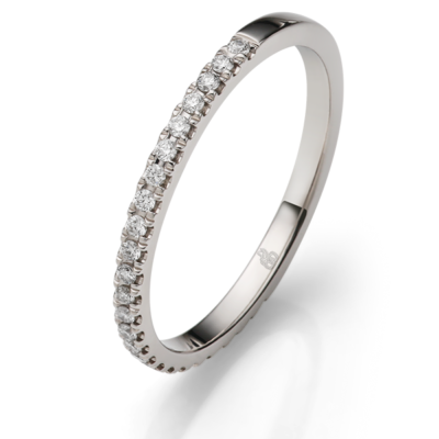 Memoire Ring mit Brillanten