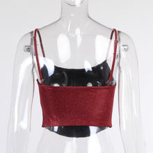 Load image into Gallery viewer, 2021 Trendy Style Sleeveless Women Mini Red Top