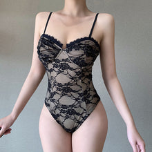 Load image into Gallery viewer, Spaghetti Strap Push Up Women Sexy Lace Bodysuit