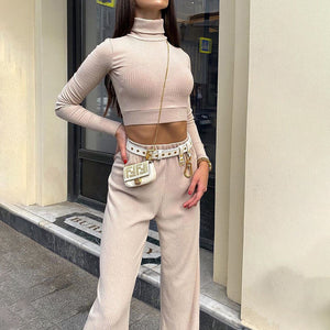 2021 New Fashion Full Sleeve High Street Women Sets