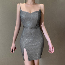 Load image into Gallery viewer, 2021 Spring Women Sleeveless Bling Bodycon Dress