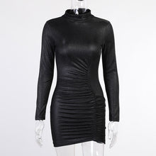 Load image into Gallery viewer, Bling Bling O Neck Full Sleeve Cocktail Party Dress