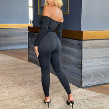 Load image into Gallery viewer, Detachable Girdle Lady Off Shoulder Jumpsuit