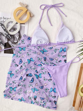 Load image into Gallery viewer, Print Butterfly Sexy Women Beach Three Piece Swimsuit