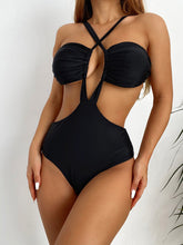 Load image into Gallery viewer, Popular Halter Hollow Out Women Cheap Swimsuits