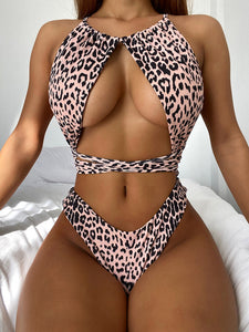 Brand Designer Sexy Female Leopard Bathing Suit