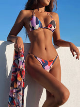 Load image into Gallery viewer, 2021 Newest Print Female 3 Piece Triangle Bikini Set