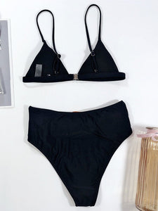 Fashion Two Piece High Waisted Bathing Suits