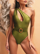 Load image into Gallery viewer, Hottest Cut Out One Shoulder Bathing Suit