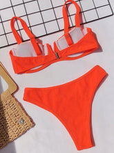 Load image into Gallery viewer, Fashion Two Pieces V Neck Swimsuit