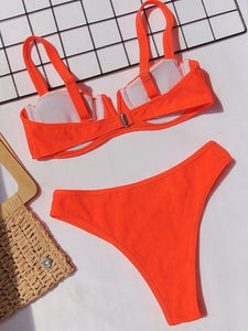 Fashion Two Pieces V Neck Swimsuit