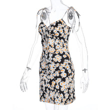 Load image into Gallery viewer, Fashion Spaghetti Strap Flowers 20's Dresses