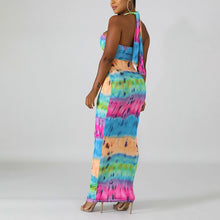 Load image into Gallery viewer, Hot Selling Sexy Halter Backless African Print Dresses