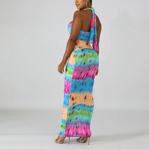 Hot Selling Sexy Halter Backless African Print Dresses