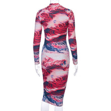 Load image into Gallery viewer, Wholesale Print Floral Women Party Full Sleeve Dress