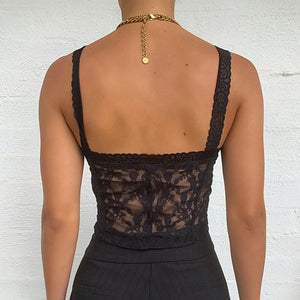 Buckle Front Sexy Women Mini Lace Crop Top