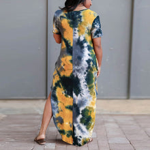 Load image into Gallery viewer, Long Print Large Size Dresses For Curvy Women