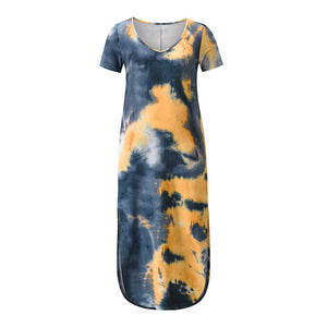 Long Print Large Size Dresses For Curvy Women