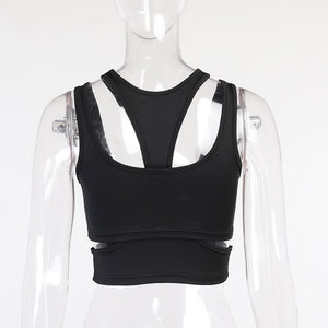 Sexy Sleeveless Women Two Piece Sports Tank Top