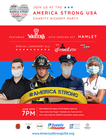 Supply Disaster Hosts America Strong USA Charity Kickoff Party
