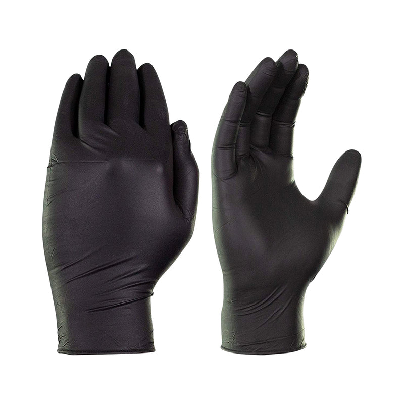 AMMEX X3 Industrial Black Nitrile Gloves - supply disaster