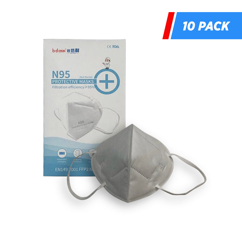 BD BADO superior N95 PROTECTIVE MASKS FDA approved- pack of 10 - supply disaster covid 19 medical supplies wholesale and retail