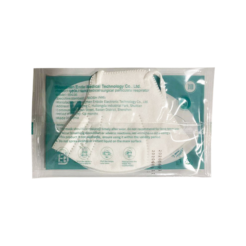 N95 Particulate Respirator Masks - Pack of 10/ individually wrapped - supply disaster