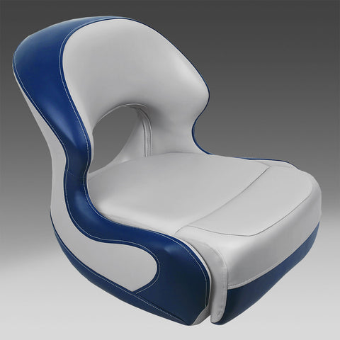 Gray & Blue Pontoon Bucket Seat
