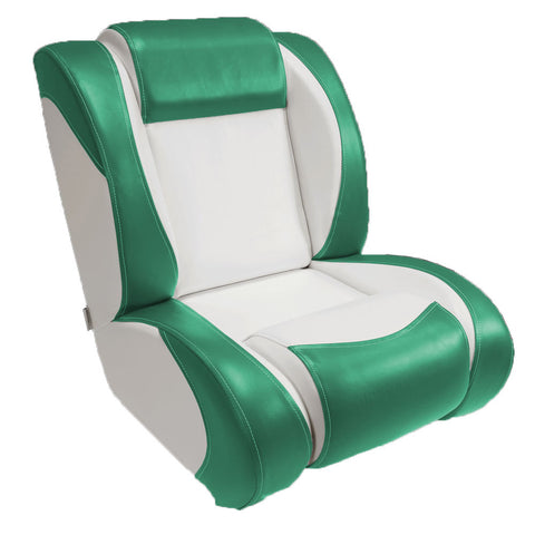 Ivory & Teal Bucket Seats