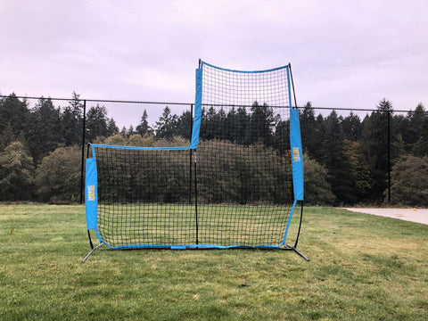 Cricket protection net for batting practice