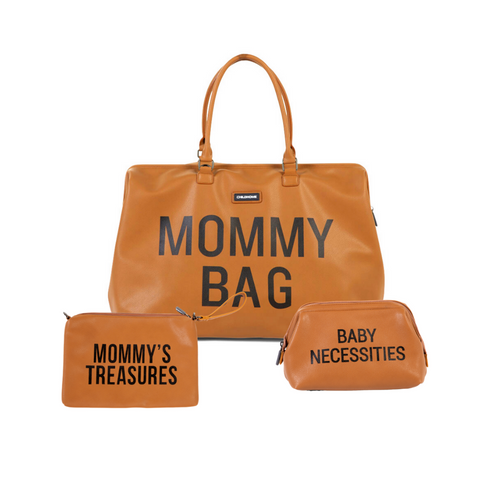 MOMMY BAG BUNDLE LEATHER LOOK BROWN