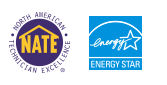 NATE Certified, Energy Star Certified
