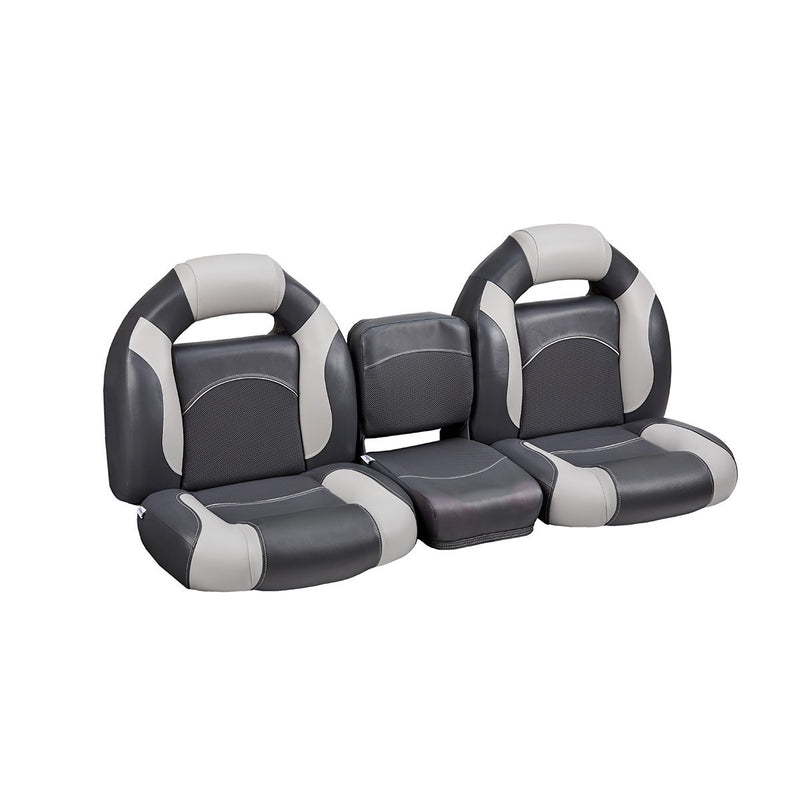 DeckMate Bass Boat Bench Seat Set with Middle Seat