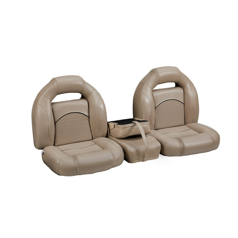 DeckMate Bass Boat Bench Seat Set with Closed Middle Seat