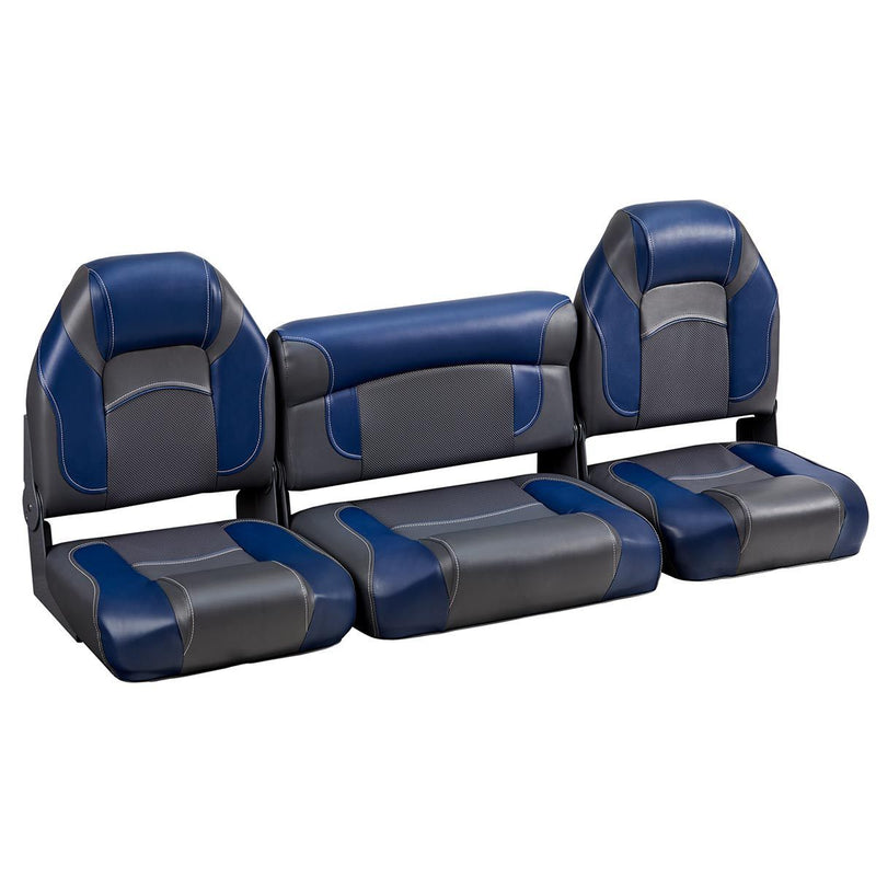 DeckMate Bass Boat Folding Bench Set with wide jump Seat