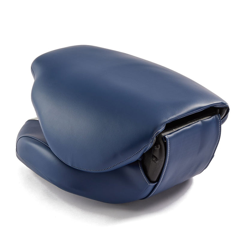DeckMate High Back Sport Cushion Fishing Boat Seat Gray Blue Marine Grade Vinyl for sale