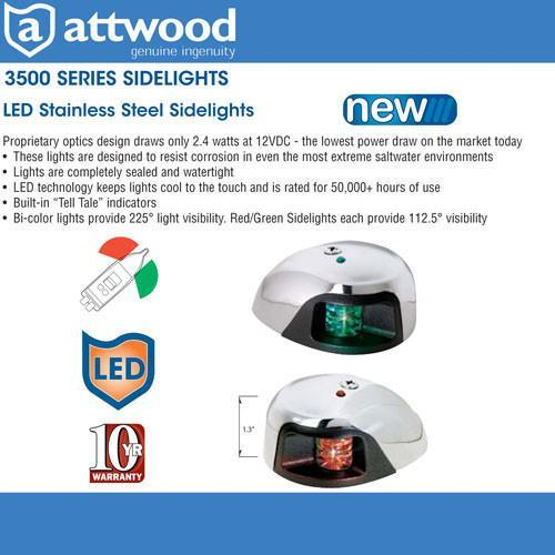 attwood led navigation lights