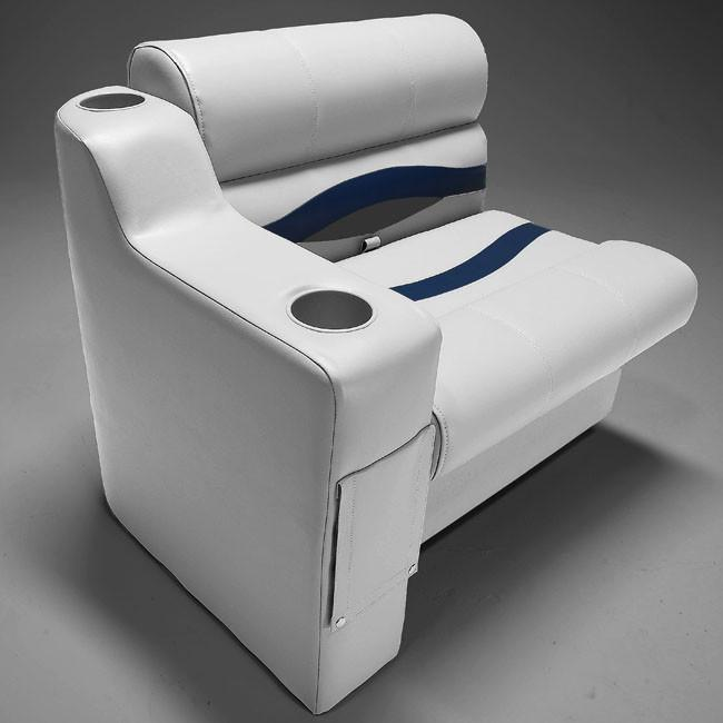 Right side pontoon boat seat arm rest