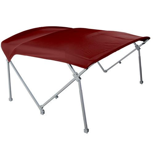 Burgundy heavy duty pontoon boat tops 8'6 W x 10' L