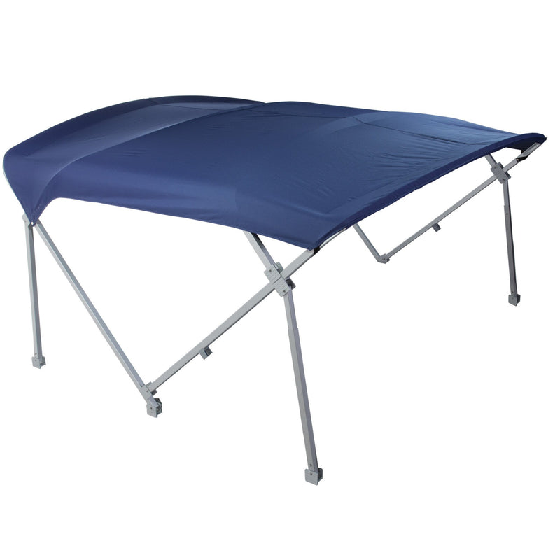 Navy blue heavy duty pontoon bimini tops 8'6 W x 10' L