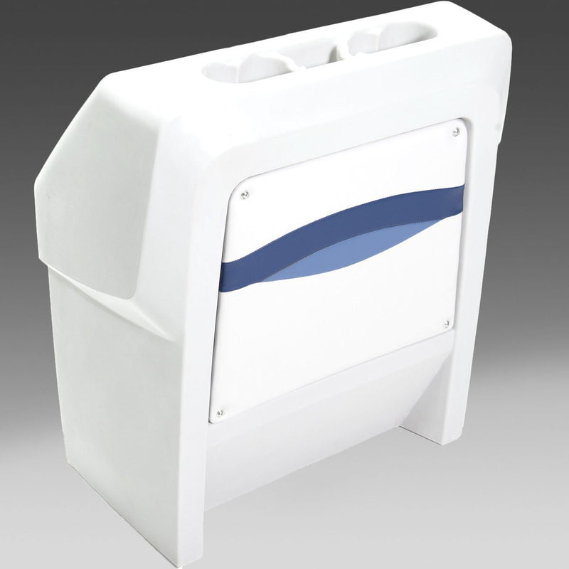 White & Blue Pontoon Boat Console