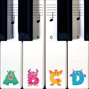 Monster Piano Stickers