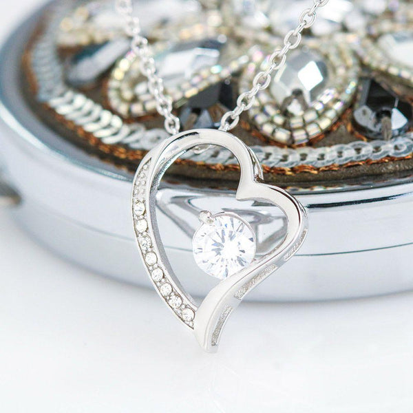 husband to wife heart forever love - Lilypadjewelry