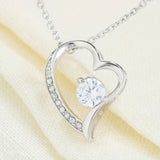 Heart Pendant with cubic zirconia embellishments.